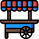 amusements, cart, fair, fun, stall, sweet icon