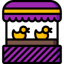 amusements, duck, fair, fun, game, shoot, stall icon