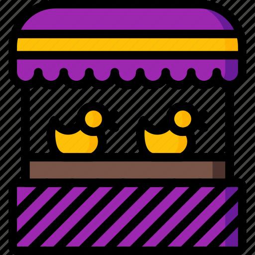 amusements, duck, fair, fun, game, shoot, stall icon