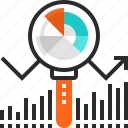 analysis, analytics, chart, data, graph, search, statistics icon