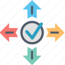 approve, choice, decision, direction, strategy, tick, way icon