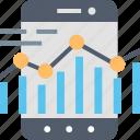 data, graph, management, mobile, remote, smartphone, statistics icon