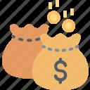 bag, dollar, finance, income, money, profit, saving icon