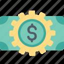 making, money, cash, dollar, finance, gear, payment