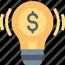 business, idea, improvement, innovation, money, smart, solution icon
