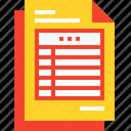 account, data, document, file, invoice, receipt, report icon