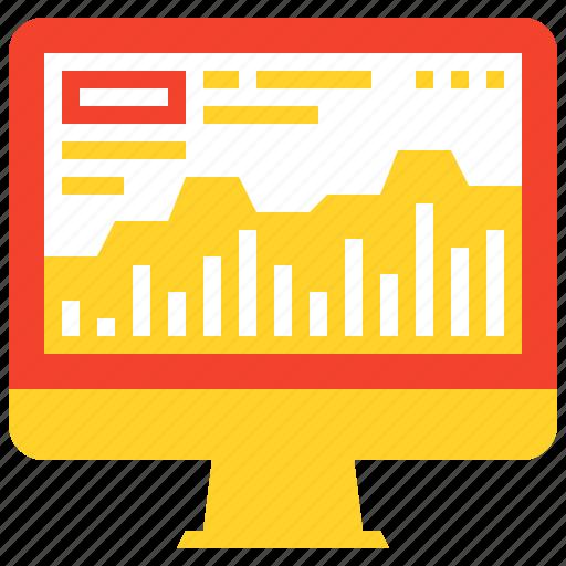 analysis, analytics, chart, computer, graph, monitoring, statistics icon