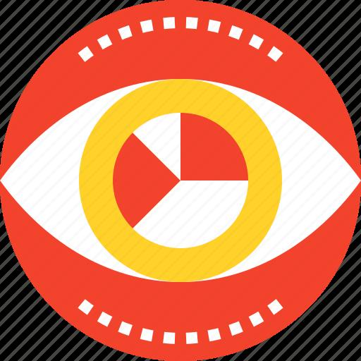 analysis, analytics, chart, data, eye, graph, vision icon