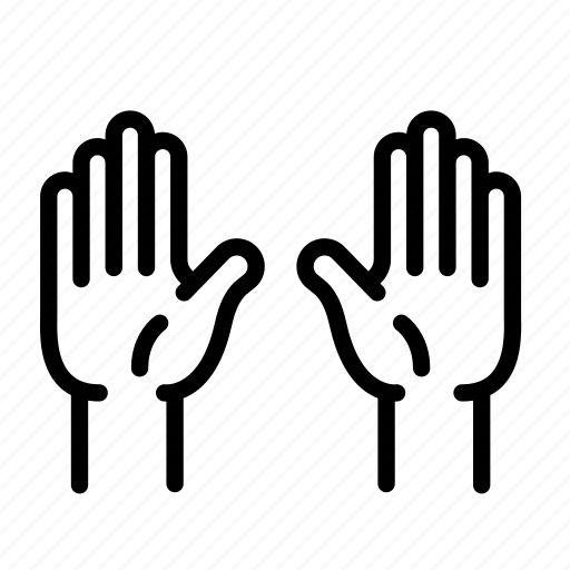 anatomy, body, hand, hands up, high five, human, organ icon