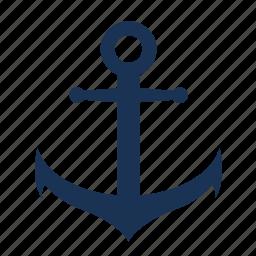 anchor, boat, marina, sea, ship anchor, simple anchor icon