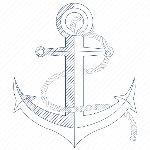 anchor, boat, marina, sea, ship anchor, travel icon