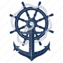 anchor, boat, iconfinder, sailing, sea, ship, travel icon
