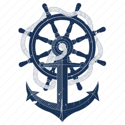 anchor, boat, sailing, sea, ship, travel icon