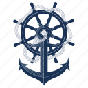 anchor, boat, pirate, sailing, sea, ship, travel icon