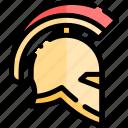 ancient, greece, greek, helmet, history, warrior icon