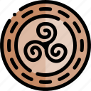 ancient, greece, greek, history, triskele icon
