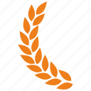 branch, laurel, left icon