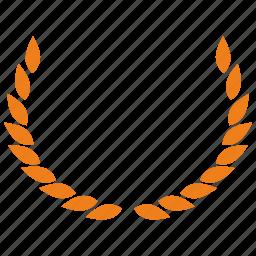 gold, laurels, winner icon