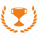 cup, laurels, win, winner icon