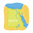 egypt, geographic, location, map, place, state, territory icon