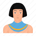 ancient, avatar, clothes, egyptian, face, hairstyle, man icon