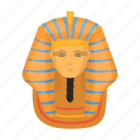 ancient, egyptian, face, gold, mask, pharaoh icon