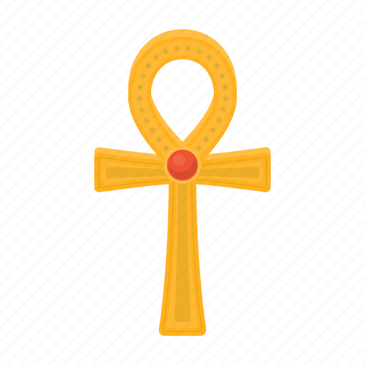 ancient, ankh, cross, egypt, gold, sign icon