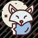 arctic, fox, snow, winter icon
