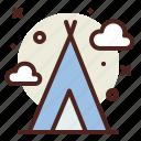 north, pole, snow, tent, winter icon