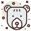 bear, northern, snow, winter icon