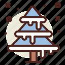 christmas, pine, snow, tree, winter icon