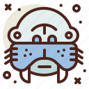 snow, walrus, winter icon