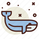snow, whale, winter icon