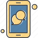 apps, chat, mobile, phone icon