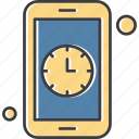 apps, clock, mobile, phone icon