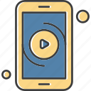 apps, mobile, phone, video icon