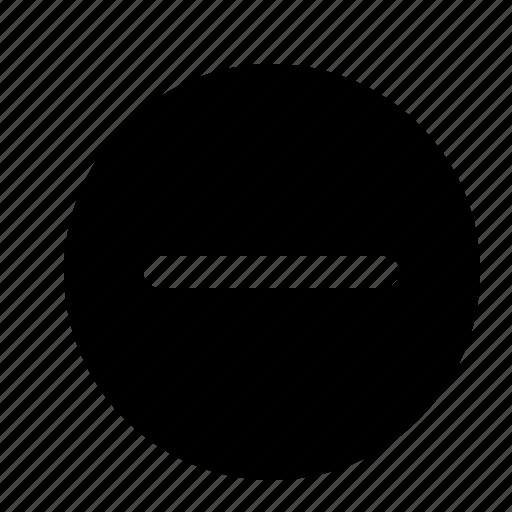 circle, interface, minus, remove, subtract icon