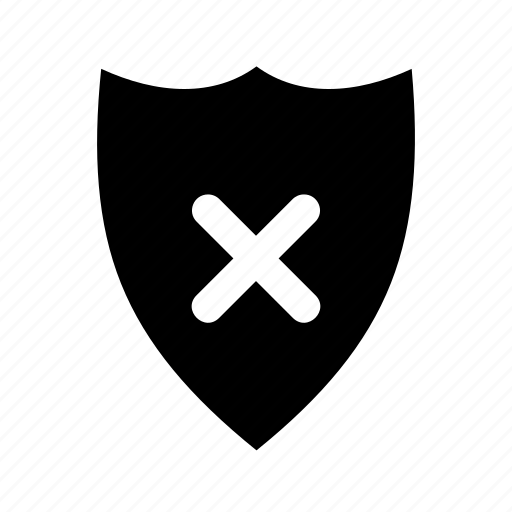 firewall, off, risk, safety, shield, unguard, unsecure icon