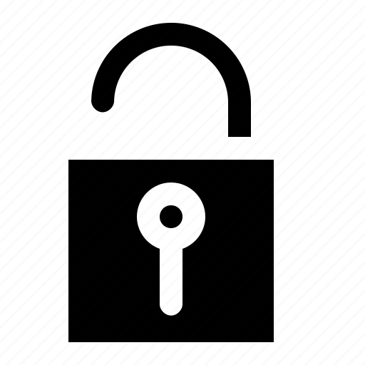Lock, unsafe, unsecure, unlock, theft, interface, security icon