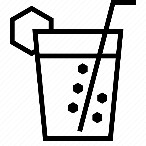 drink, glass, juice, lemon, outing, straw, water icon