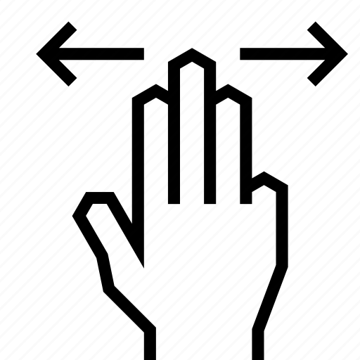 finger, gesture, hand, left, right, swipe, touch icon