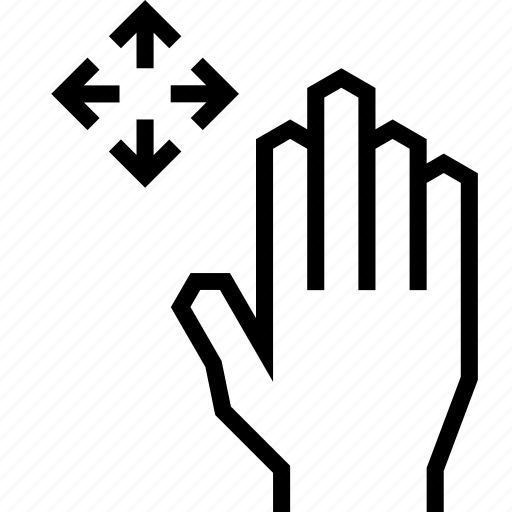 arrow, finger, gesture, hand, move, touch icon