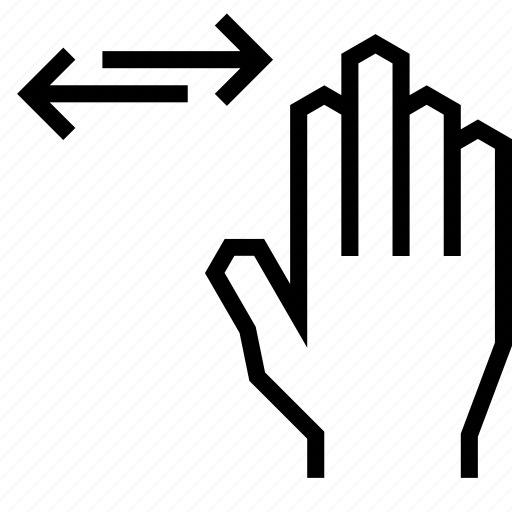 arrow, gesture, hand, left, right, swipe, touch icon