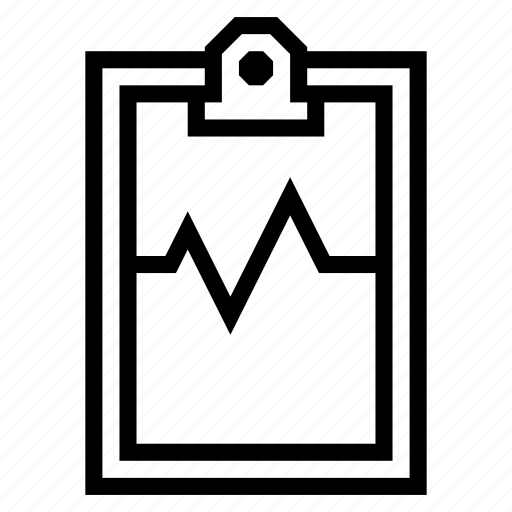 clipboard, cross, file, health, medical, pulse, report icon
