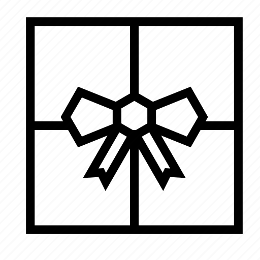 birthday, bow, box, christmas, gift, holiday, present icon