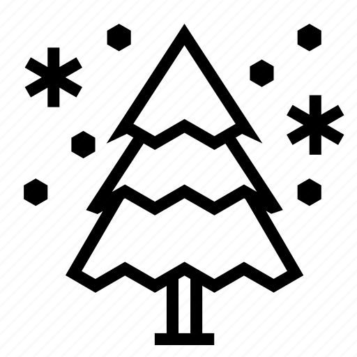 christmas, holiday, snowflake, snowing, tree, winter icon