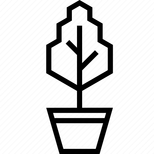 flowerpot, garden, nature, plant, pot, tree icon