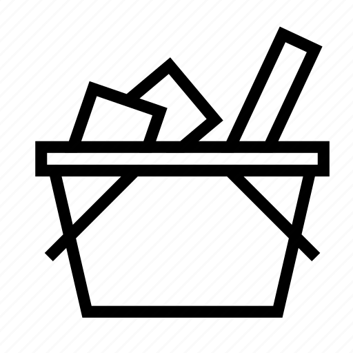 basket, full, goods, product, shopping icon