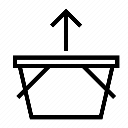 arrow, basket, remove, shopping, up icon
