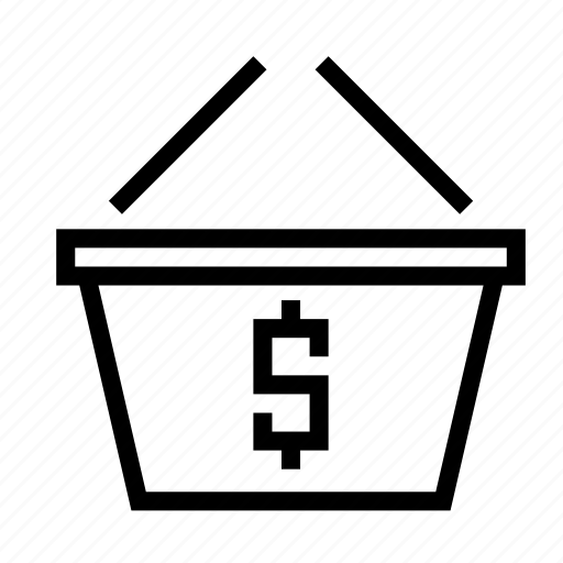 basket, checkout, dollar, money, payment, shopping icon